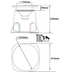 TIC GS5 Enceintes extérieure (une paire) Omnidirectionelle Waterproof 8 Ohm