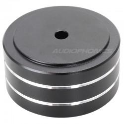 Pied en métal Noir 39.4x21.4mm (Unité)