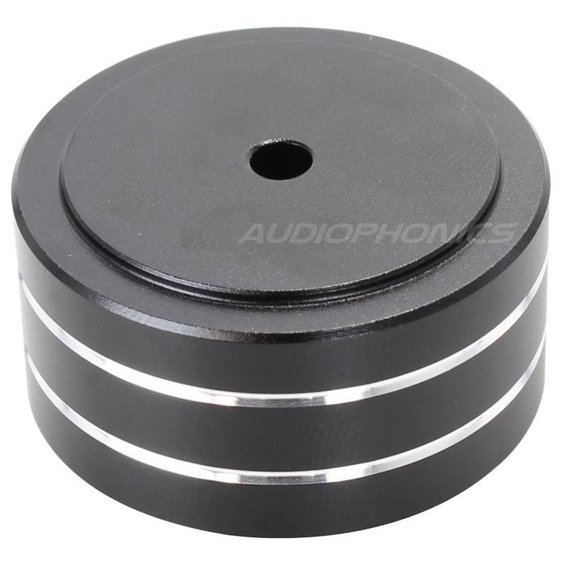 Pied amortissant Aluminium Noir 39x21mm M4 (Unité)