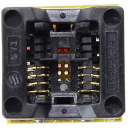 Adaptateur Tulipe SOIC 8 Clipsable à Souder sur Circuit Imprimé
