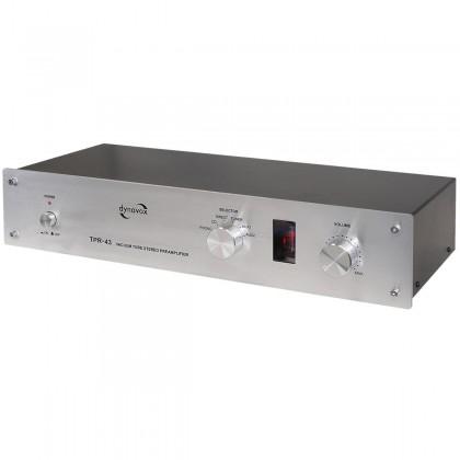 Dynavox TPR-43 Préampli / Sélecteur Phono Stéréo à Tube (MM/MC) Silver