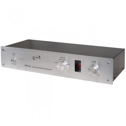 Dynavox TPR-43 Valve Phono Preamp / Selector Stereo (MM/MC) Silver