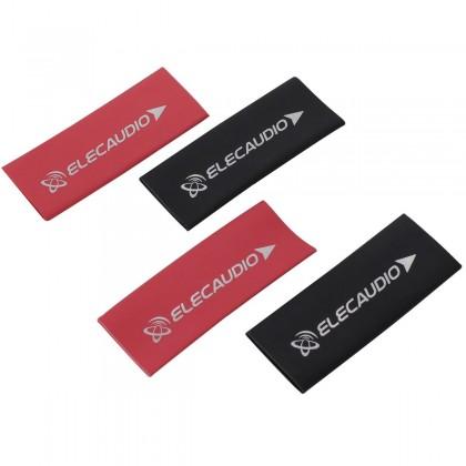 ELECAUDIO Gaines Thermo Rétractables 3:1 Ø12mm Pour Câbles Noir et Rouge (x4)