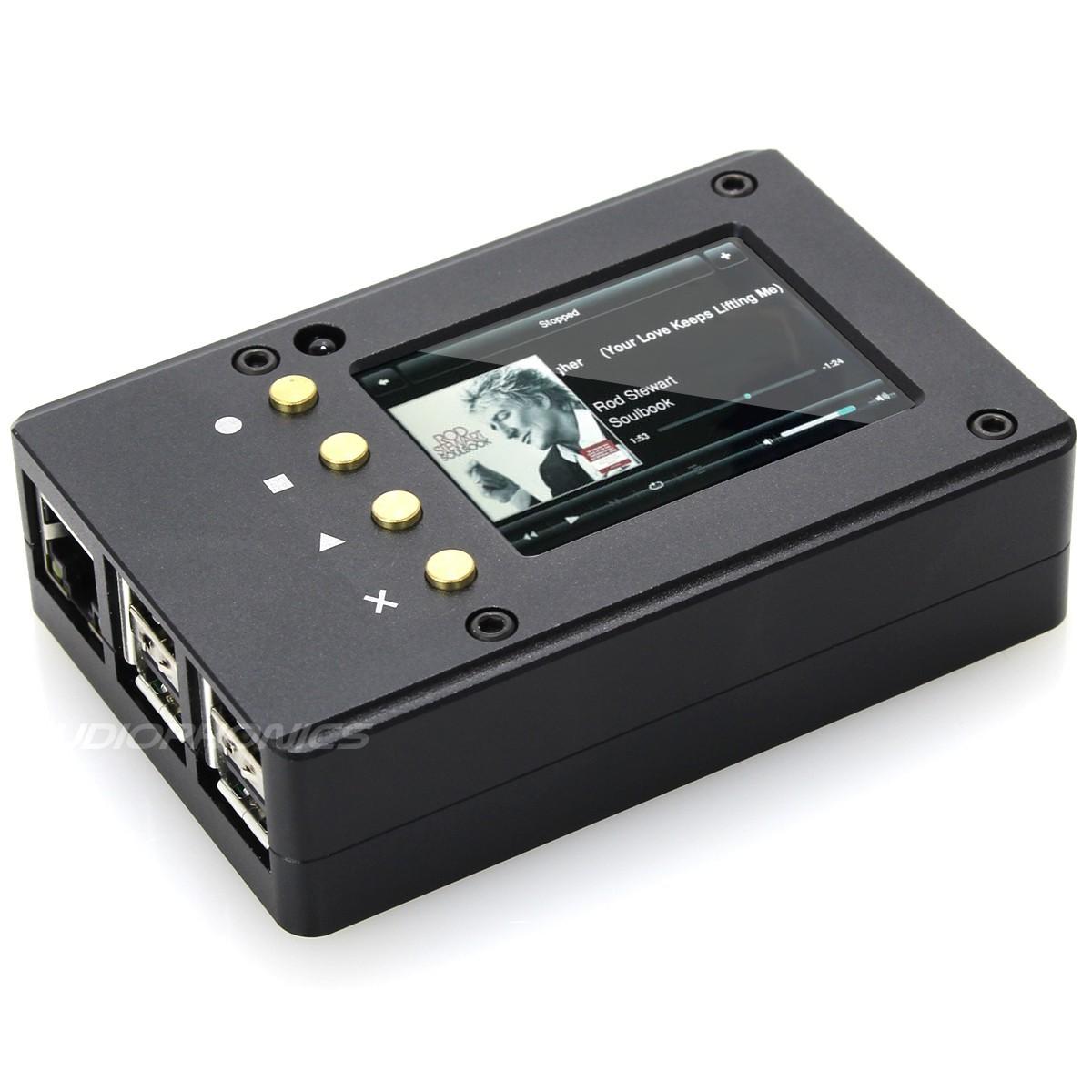 """KIT Boitier Aluminium pour Raspberry Pi 3 Ecran 2.2"""" pouces boutons programmable"""