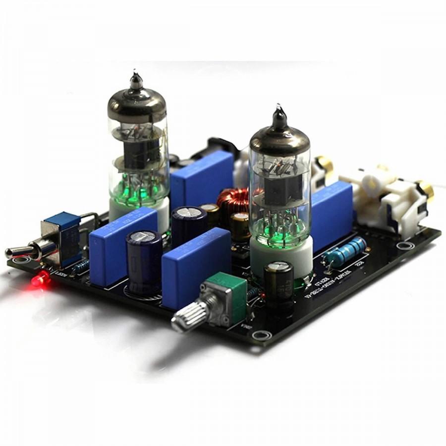 FX-AUDIO TUBE-01 Valve 6J1 Stereo preamplifier Black - Audiophonics