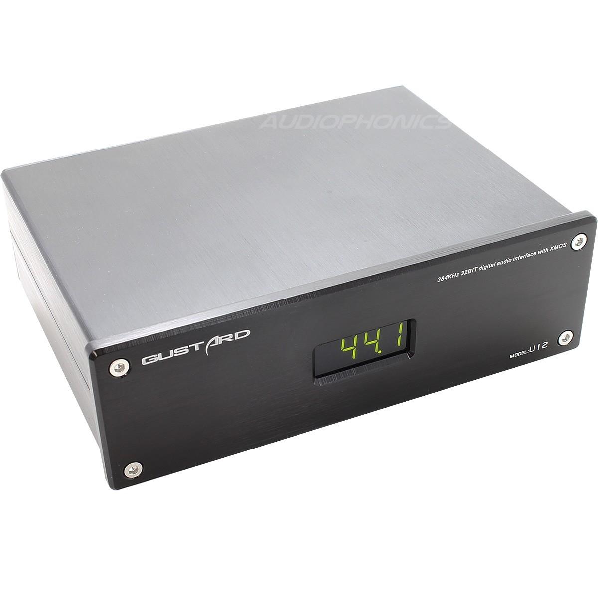 GUSTARD U12 XMOS interface USB vers I2S/SPDIF/AES EBU 32bit 384Khz