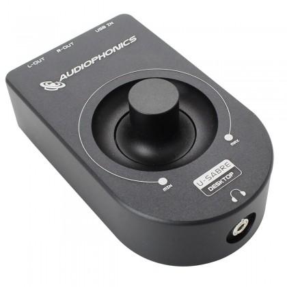 AUDIOPHONICS U-Sabre Desktop USB DAC / Ampli Casque 24bit/96kHz SA9023/ES9023