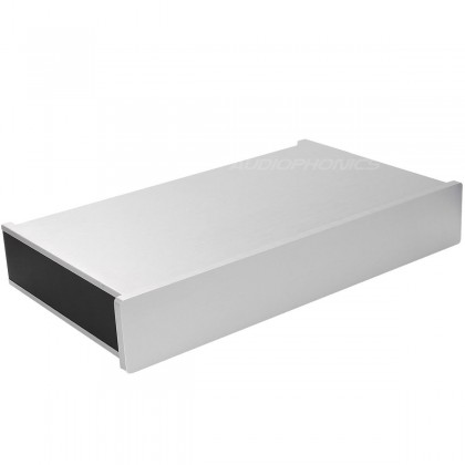 Boitier DIY 100% Aluminium angles arrondis 313x190x54mm