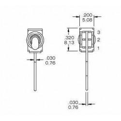 Interrupteur à Bascule 1 pôle/2 positions 250V 1.5A