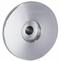 Knob Aluminium Hat Style 39x25x18mm Ø6mm Silver