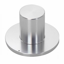 "Aluminium button 39x25x18mm ""HAT"" Silver Axe Ø6mm"