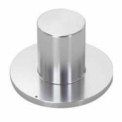 "Bouton aluminium 39x25x18mm ""Chapeau"" Silver Axe Ø6mm"