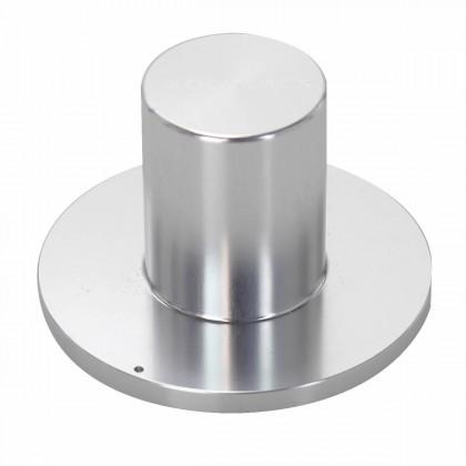 """Aluminium button 39x25x18mm """"HAT"""" Silver Axe Ø6mm"""