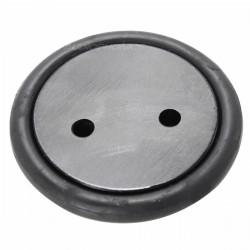Aluminium Rubber tailstock 40x8.45mm Black (x4)