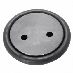 Contrepointes Aluminium Absorbeur Caoutchou 40x8.45mm Black (x4)