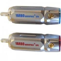 YARBO RCA-007R Rhodium RCA Plug Ø 9mm (La paire)