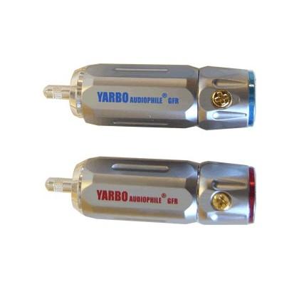 Yarbo RCA-007R Rhodium Connecteurs RCA (La paire) Ø 9mm