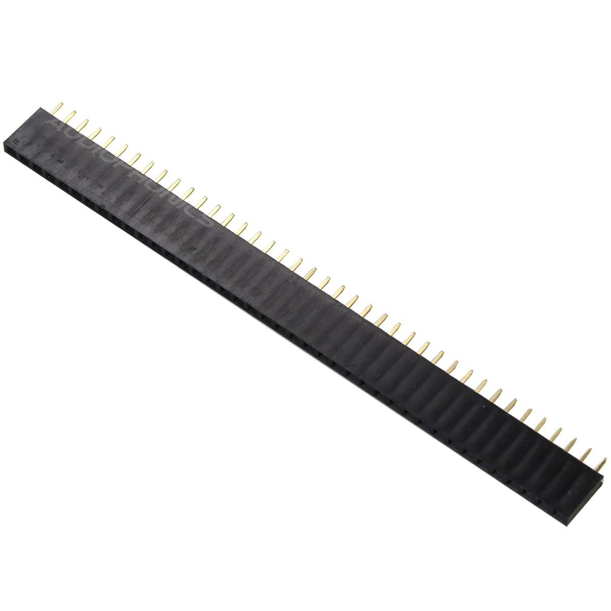 Connecteur Barrette à broches femelle 1x40 écartement 2.54mm