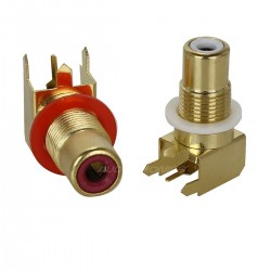 RCA Gold Plated for printed board (Pair)