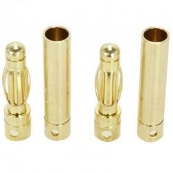 AUDIOPHONICS Prises PK haute intensité Mâle/Femelle Ø 4mm (La paire)