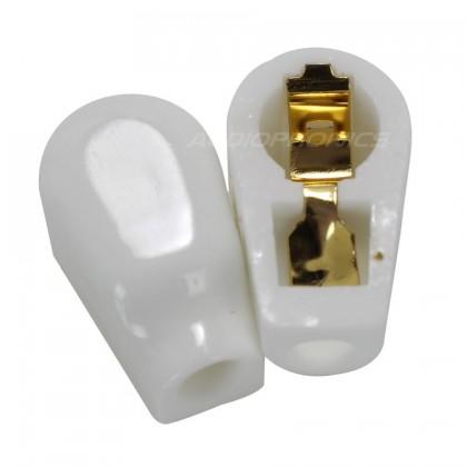 Ceramic Gold Plated Tube Anode Cap Ø 6.5mm (Unit)