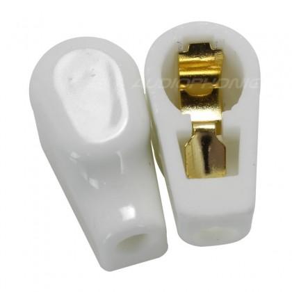 Capot isolateur en céramique Plaqué Or pour Tube Anode Ø 9mm (Unité)