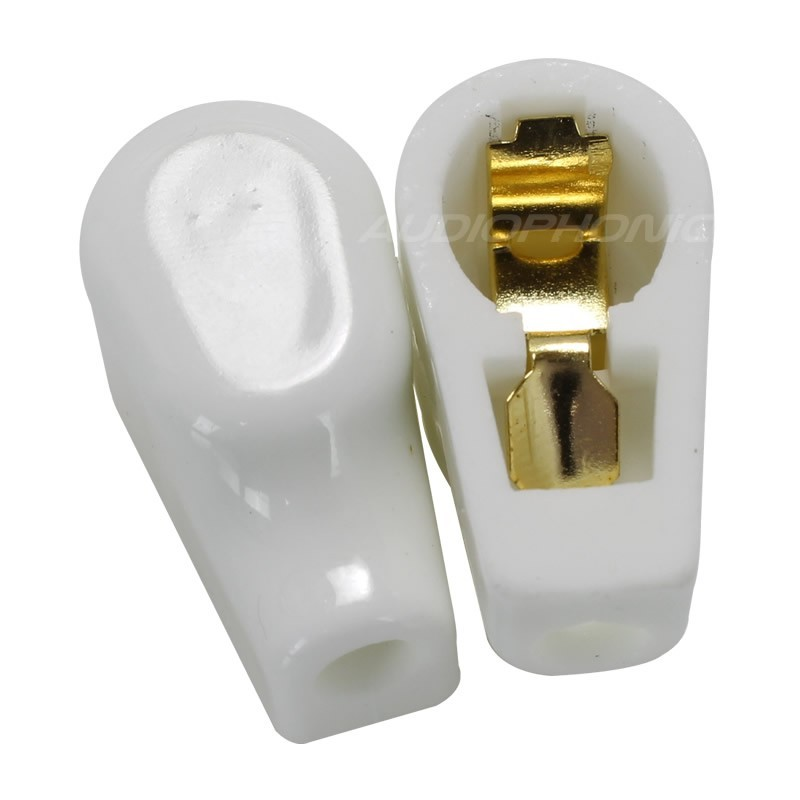 Ceramic Gold Plated Tube Anode Cap Ø9mm (Unit)
