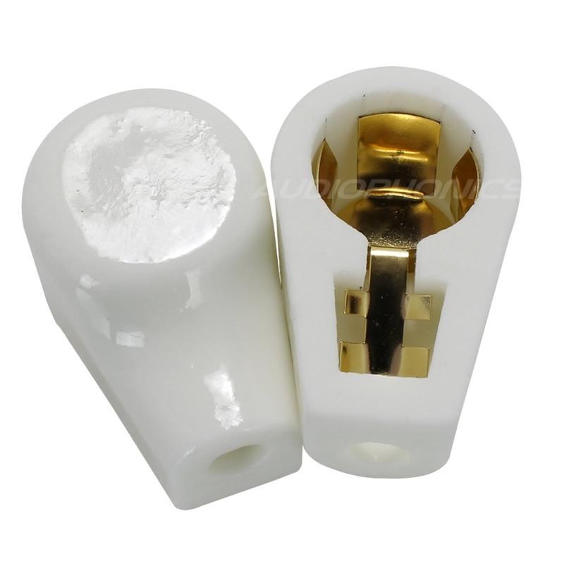 Capot isolateur en céramique Plaqué Or pour Tube Anode Ø 14mm (Unité)