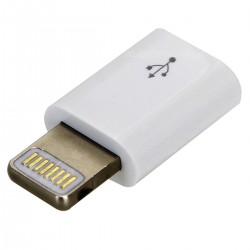 Adaptateur Micro USB vers Lightning Blanc
