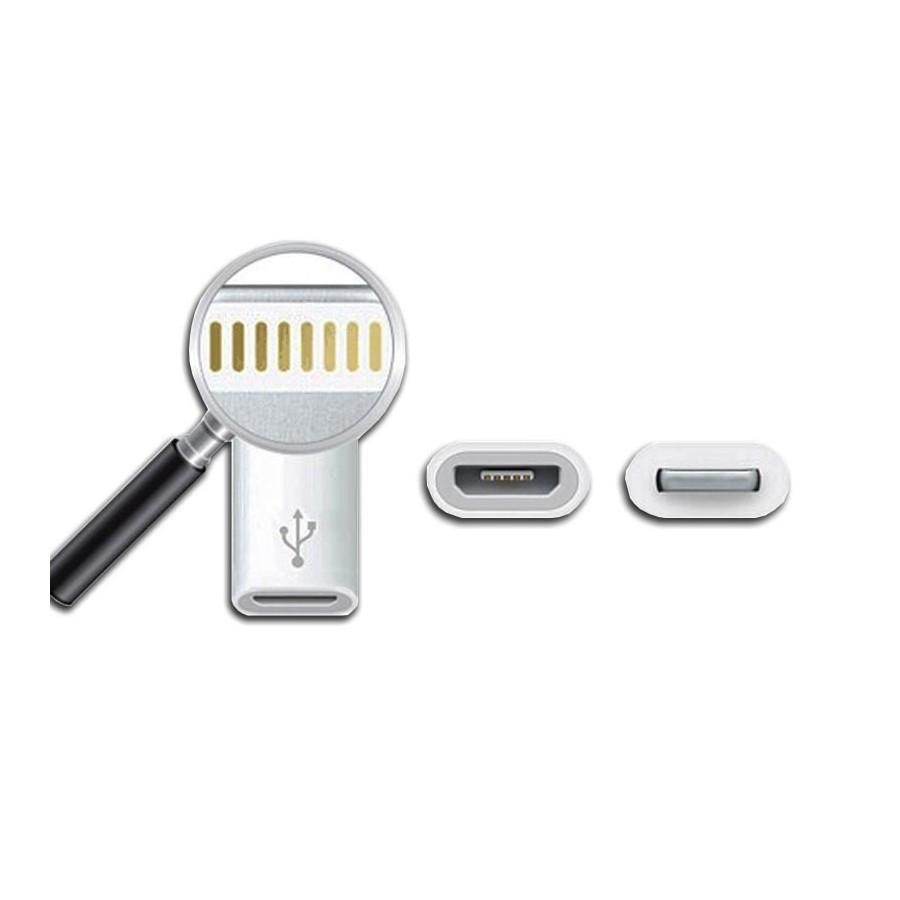 adaptateur micro usb vers lightning blanc audiophonics. Black Bedroom Furniture Sets. Home Design Ideas