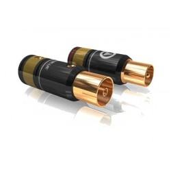 VIABLUE T6s Fiches d'antenne mâle / femelle Ø 9.5mm (La paire)