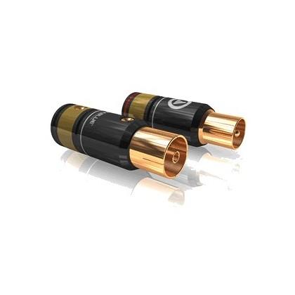 Viablue T6s Fiches d'antenne mâle/femelle (la paire) Ø9.5mm