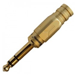 Yarbo GY-635G Jack 6.35mm stereo Gold plated Ø8mm (Unit)