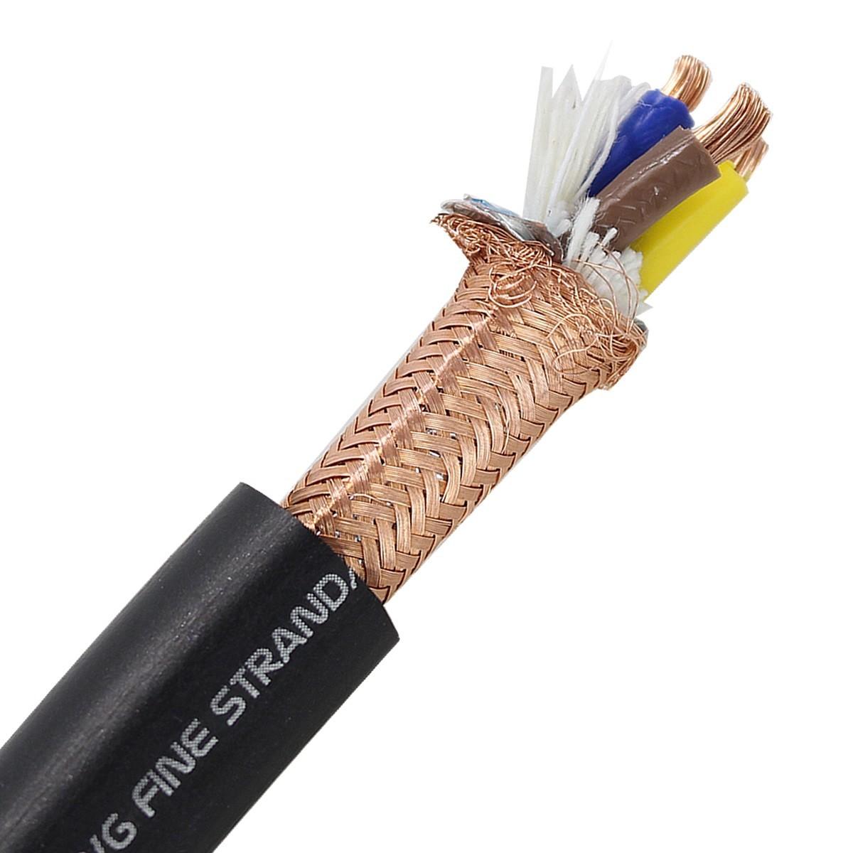 ELECAUDIO CS-331B Câble Secteur Double Blindage Cuivre OFC 3x3.5mm² Ø 15mm