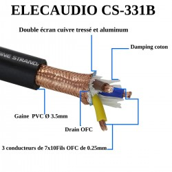 ELECAUDIO CS-331B Power cable triple shilded 3x3.5mm² Ø 15mm