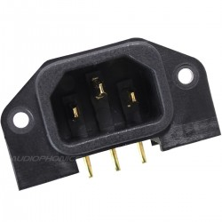 ELECAUDIO ES-2G IEC Inlet Angled for Electronic Board Circuit Gold Plated