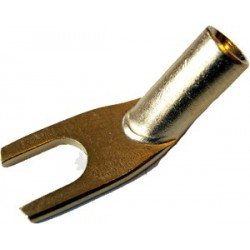 MUNDORF Spade Pure Copper OFC Gold plated Angled Ø8mm (La paire)