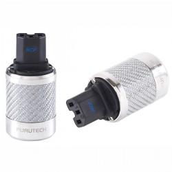 FURUTECH FI-50 NFC(R) Connecteur IEC plaqué Rhodium - Carbone Ø 20mm