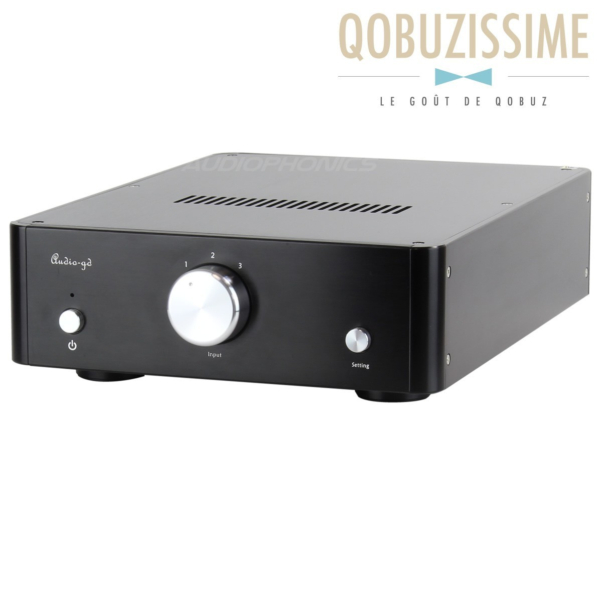 AUDIO-GD NOS 19 DAC PCM1704UK & DSP USB AMANERO Asynchrone FIFO 384KHz Noir
