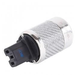 FURUTECH FI-50 NCF (R) Connecteur IEC plaqué Rhodium - Carbone Ø 20mm