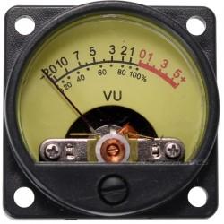 TEK Vumétre Rond rétroéclairage jaune dB Ø 34 mm