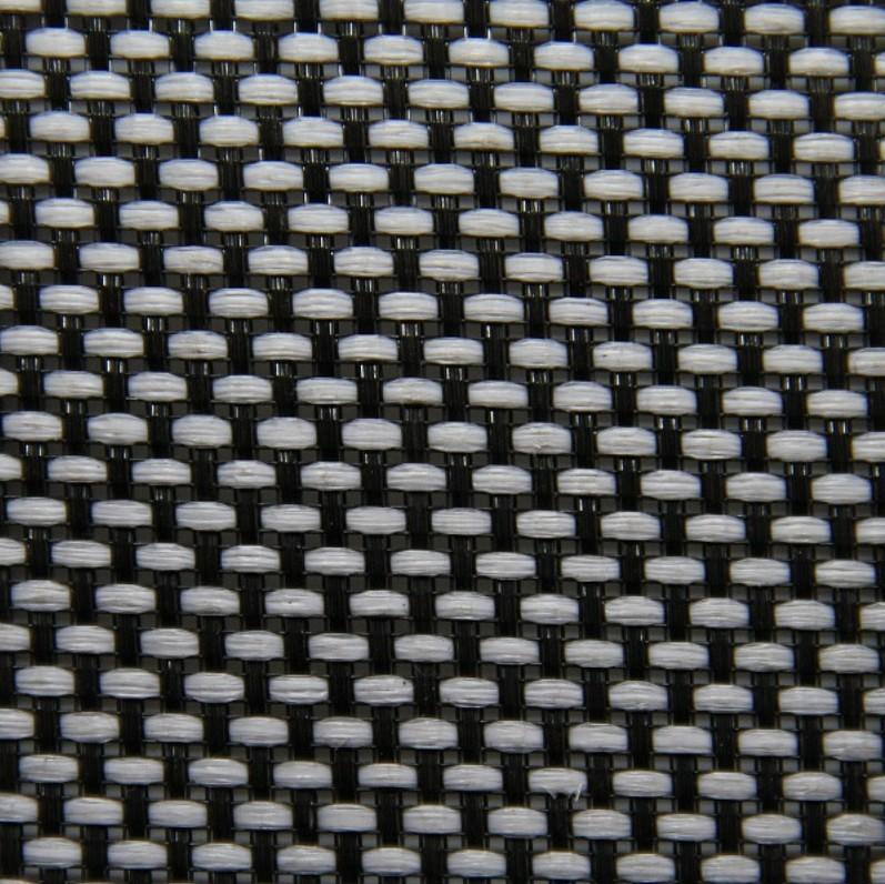 Tissu Acoustique pour Grilles Hauts-Parleurs 150x100cm Blanc et Noir
