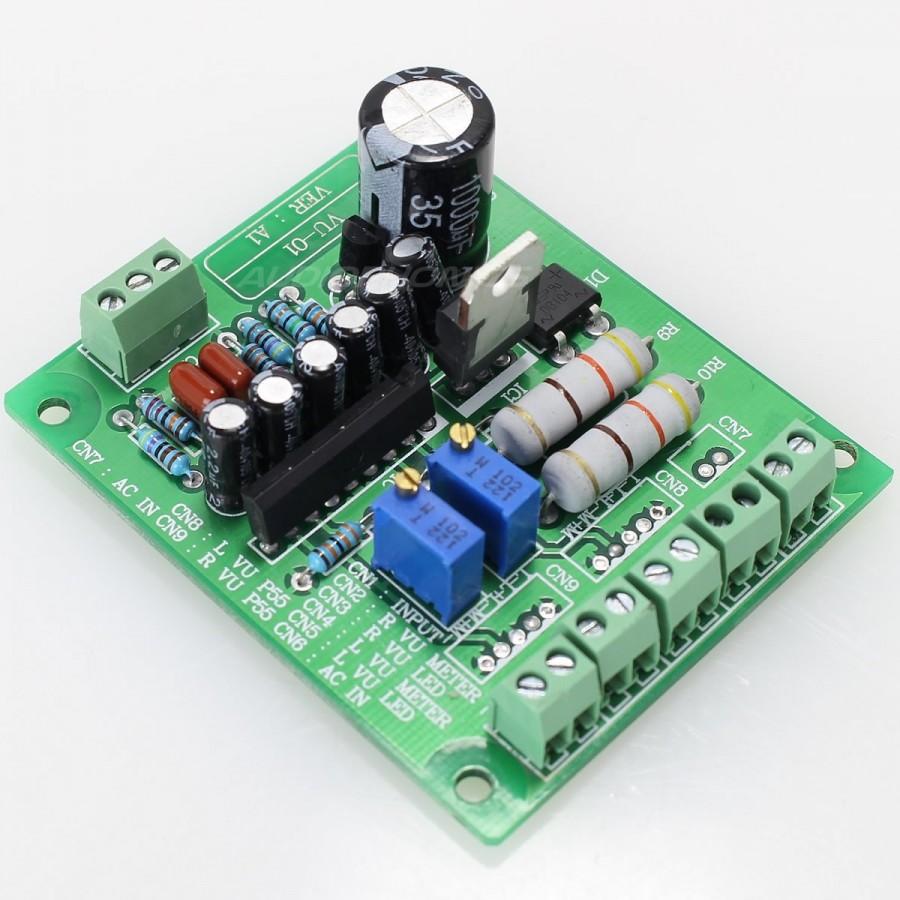 Led Vumeter Controler 33v Audiophonics Audio Vu Meter Mono Circuit Tek