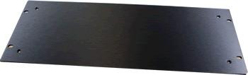 HIFI 2000 Facade aluminium 4mm Noir pour boitier 4U