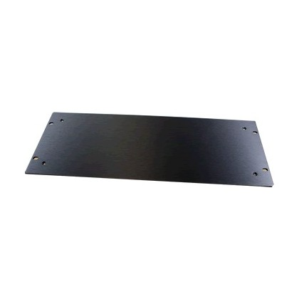 HIFI 2000 Facade aluminium 4mm Noir pour boitier 5U