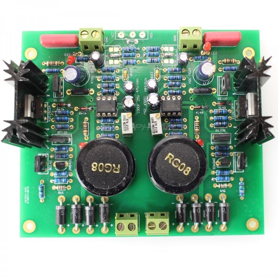 Linear Power Supply board MJE15034G 5V à 28V 2A .