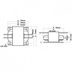 Transformer R-CORE 30VA 20-0-20V