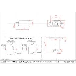 FURUTECH AC-1001(g) Filtre Secteur IEC Anti-Parasites/EMI 230V 1A