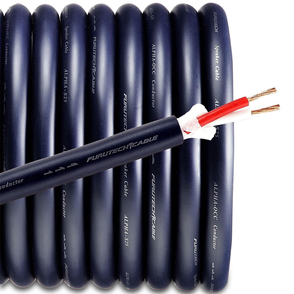 FURUTECH Alpha-S25 Câble HP Cuivre OCC 2x2.5mm² Ø14.5mm