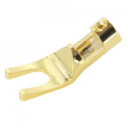 ELECAUDIO FC-102 Pure copper Gold Plated Spade Plug Ø6mm (Unit)